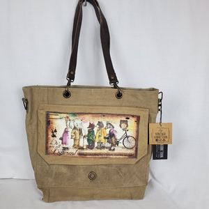 NWT VA We are all different messenger bag
